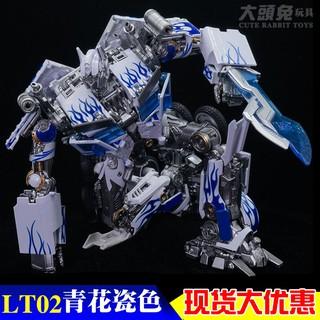 Mô hình Transformer Optimus Prime phiên bản xanh trắng cực đẹp