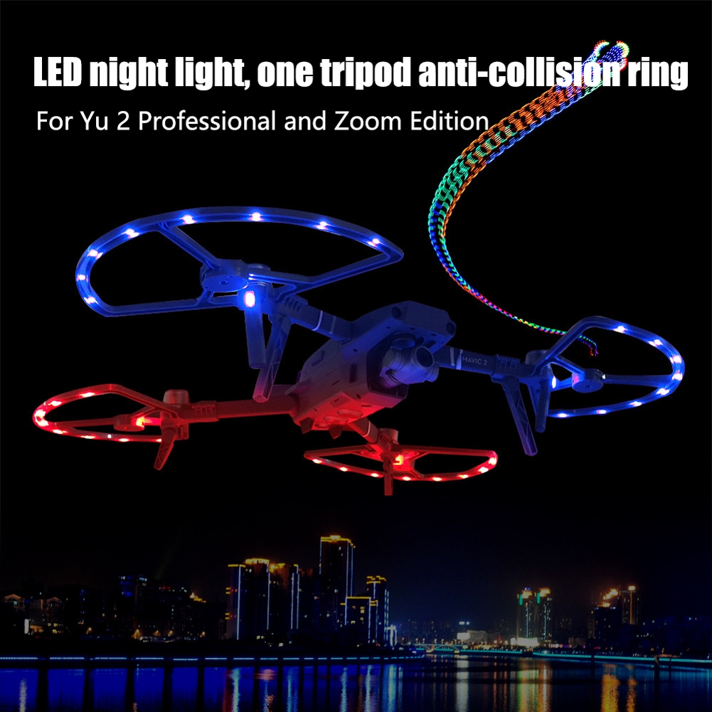 LED Lighting Protective Accessory Propeller Guard Aerial Landing Gear For DJI MAVIC 2
