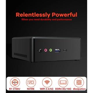 Mini PC Máy tính để bàn TBOOK MN27 AMD Ryzen7 2700U 2.4GHz đến 3.3GHz 8GB DDR4 256GB NVME SSD Radeon Vega 10 Graphics thumbnail