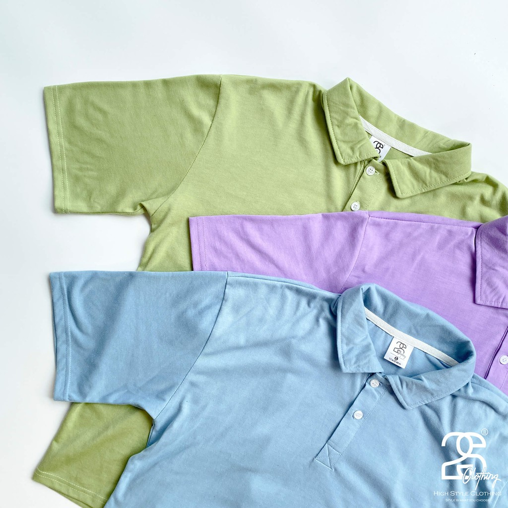 Áo Thun Polo Basic Tee Oversize Cổ Bẻ Tay Lỡ Form Rộng Nam Nữ Thời Trang 2S Clothing Màu Tím Cà Siêu Đẹp