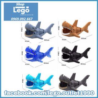Xếp hình Lego Shark Cá mập Aquaman Siêu rẻ Lego Minifigures Lele XL001 thumbnail