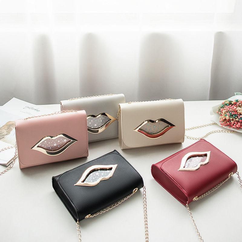 Túi đeo chéo nữ chiếc môi [gdsakura]