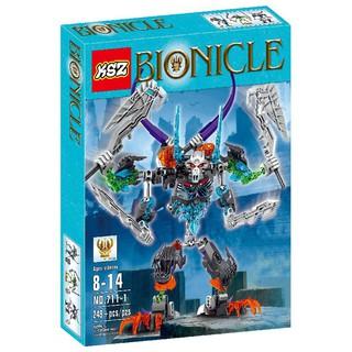 Bộ Xếp Hình Bionicle KSZ 711-1 Xếp hình Người Máy Xương 4 Tay 249 Chi Tiết