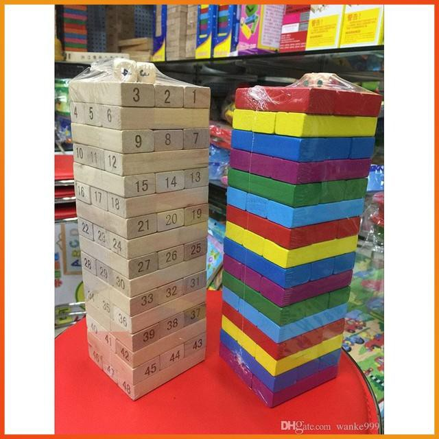[GIÁ CỰC SỐC] – [Nhập TOYAPR10K giảm ngay 10K]đồ chơi rút gỗ 48 miếng nặng 1kg