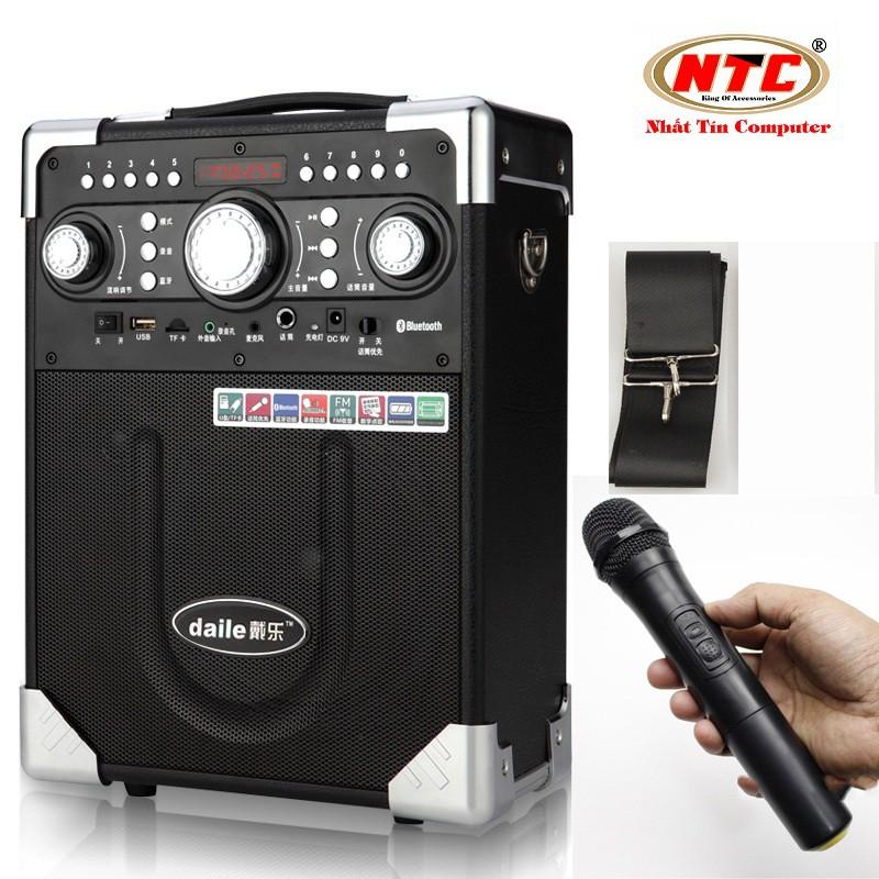 Loa Buetooth cao cấp hát Karaoke Daile S8 - tặng kèm micro không dây (Đen)