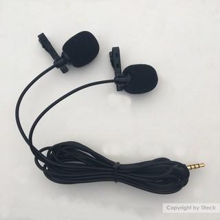 [Mã ELFLASH5 giảm 20K đơn 50K] Micro kẹp áo thu âm đôi dùng cho điện thoại, laptop, máy tính bảng