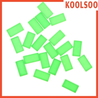 [KOOLSOO] Domino Blocks Set (20pcs) Racing Toy Game Building and Stacking Toy for Kids