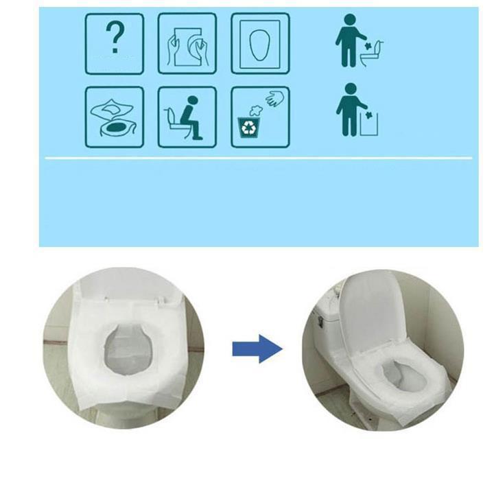 combo 40 miếng giấy lót bồn cầu vệ sinh dùng một lần
