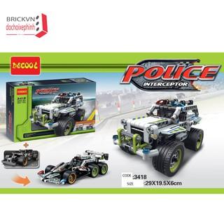 Bộ đồ chơi xếp hình trí tuệ xe cảnh sát chạy cót 3418