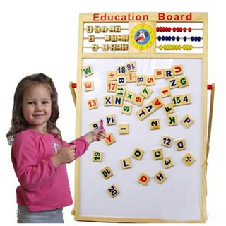 Bảng gỗ giáo dục 2 mặt kích thích phát triển trí tuệ của bé