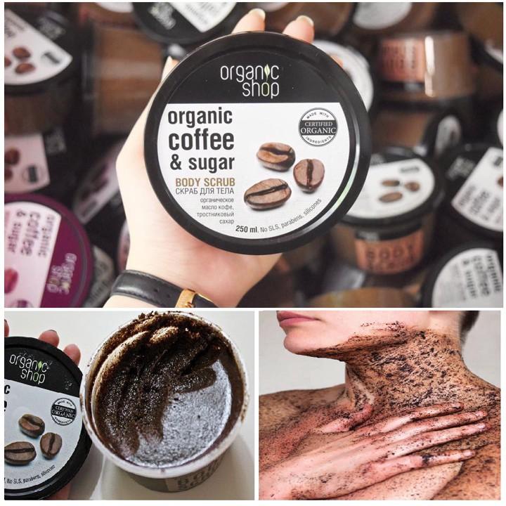 Kết quả hình ảnh cho Tẩy TBC Body Organic Shop Coffee & Sugar 250Ml