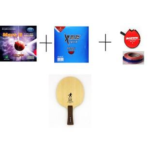 Combo Vợt Bóng Bàn Dán Rời Chuyên Nghiệp: Cốt Sanwei 502e 5 gỗ 2 carbon + M.vợt Yinhe Mars 2 + Reactor Crylin