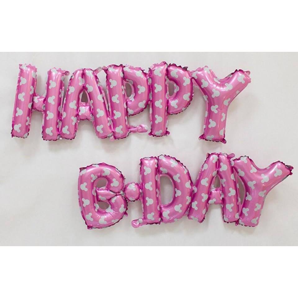 Set chữ HAPPY B-DAY - Alphabet Happy B-day set balloon