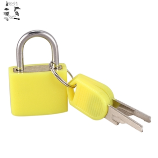 23mm Brass Padlock Travel Luggage Padlocks Lock(Colour: yellow)