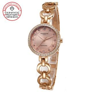 [Fullbox chính ha ng] Đồng hồ nữ siêu mỏng Sunrise 9964AA đính đá kính Sapphire chống xước thumbnail
