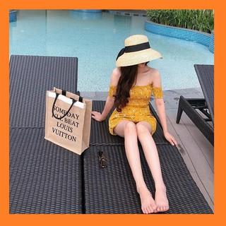 Túi cói Someday 40cm - túi xách nữ thời trang cao cấp