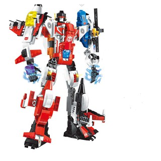 Đồ chơi lắp ráp bộmáy bay biến hình Robot 6 in 1