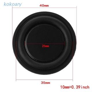 KOK 40mm Passive Radiator Subwoofer Speaker Vibration Membrane Bass Rubber Woofers