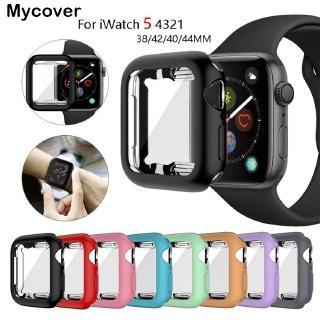 Bộ Ốp Bảo Vệ Bằng Tpu 360 + Miếng Dán Màn Hình Cho Đồng Hồ Thông Minh Apple Watch Series 6 SE 5 4 3 2 1 Iwatch 42mm 38m 40mm 44mm