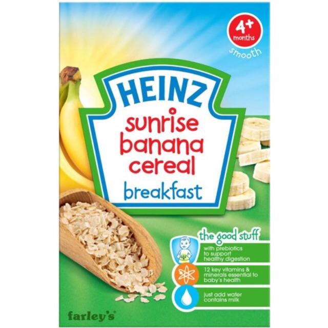 Bột ăn dặm Heinz ngũ cốc vị chuối