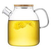 Ấm lọc trà thuỷ tinh chịu nhiệt cao cấp 1.6L