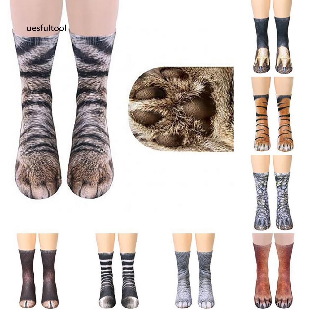 ღues_Unisex 3D Simulation Animal Paw Hoof Adult Children Soft Elastic Cotton Socks