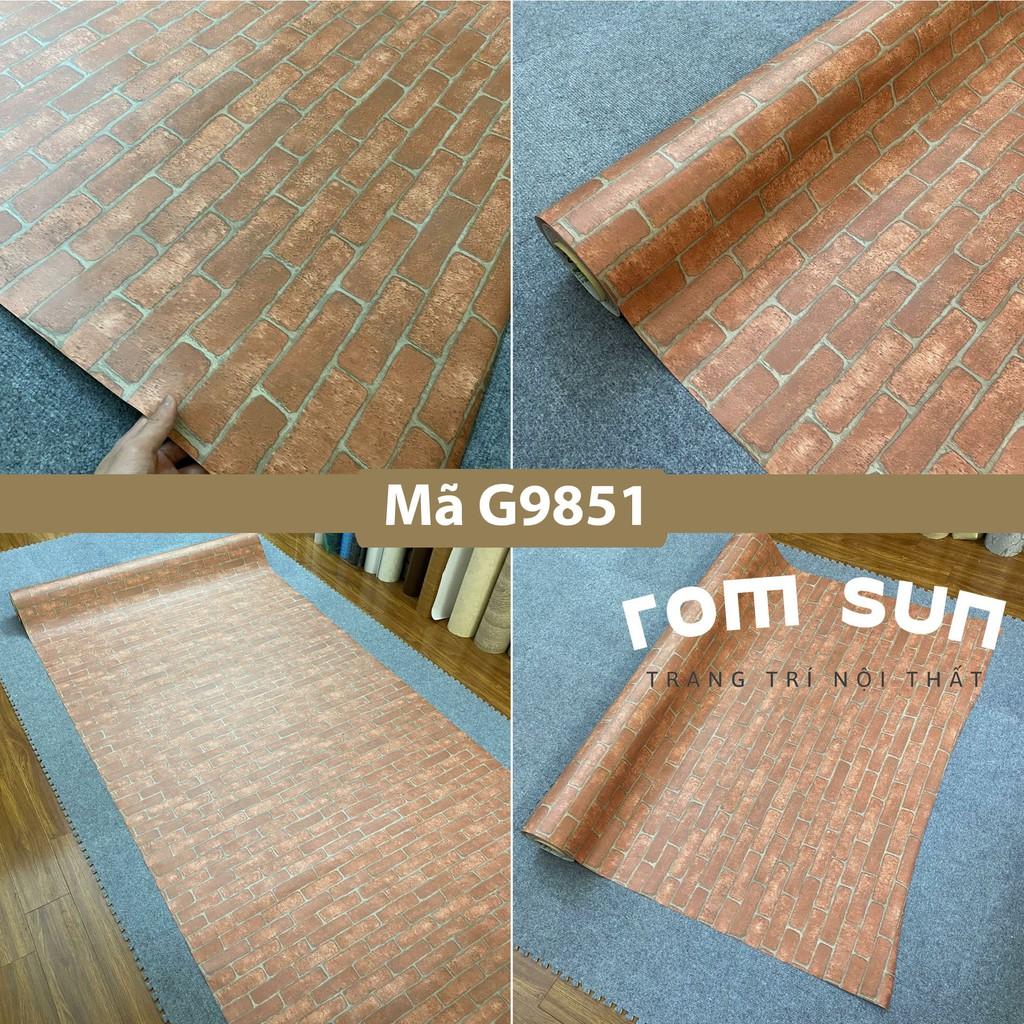 Giấy dán tường giả gạch khổ 1m2 60cm 3D trang trí phòng ngủ, Decal miếng dán tường gạch dán bàn tủ ghế