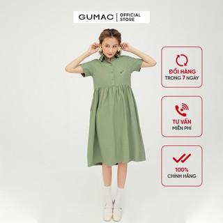 [Mã WABRGUMN giảm 10% đơn 250K] Đầm sơ mi babydoll GUMAC màu xanh dễ thương DB5107 thumbnail