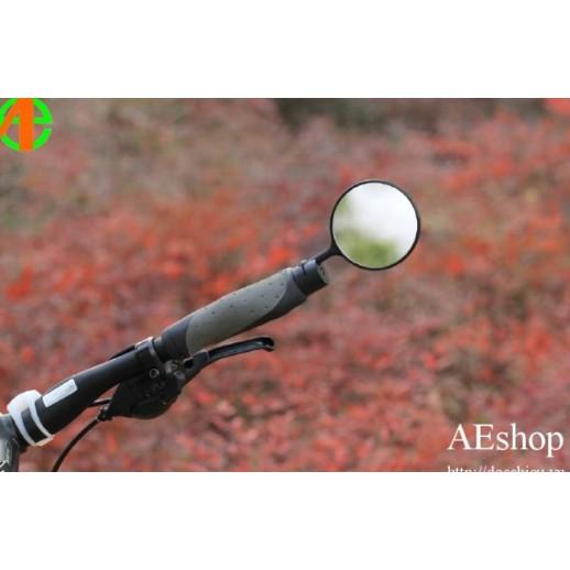 gương xe đạp hình tròn xoay 360 độ