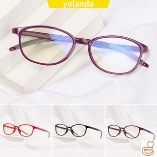 ☆YOLA☆ Women Men Anti-Blue Light Eyeglasses Comfortable Ultra Light Frame Reading Glasses Portable Antifatigue Fashion Vintage Eye Protection/Multicolor
