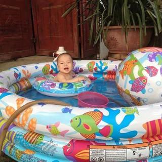 Bể bơi tròn 3 Tầng (Tặng bóng + Phao tròn + miếng vá + hướng dẫn sd)