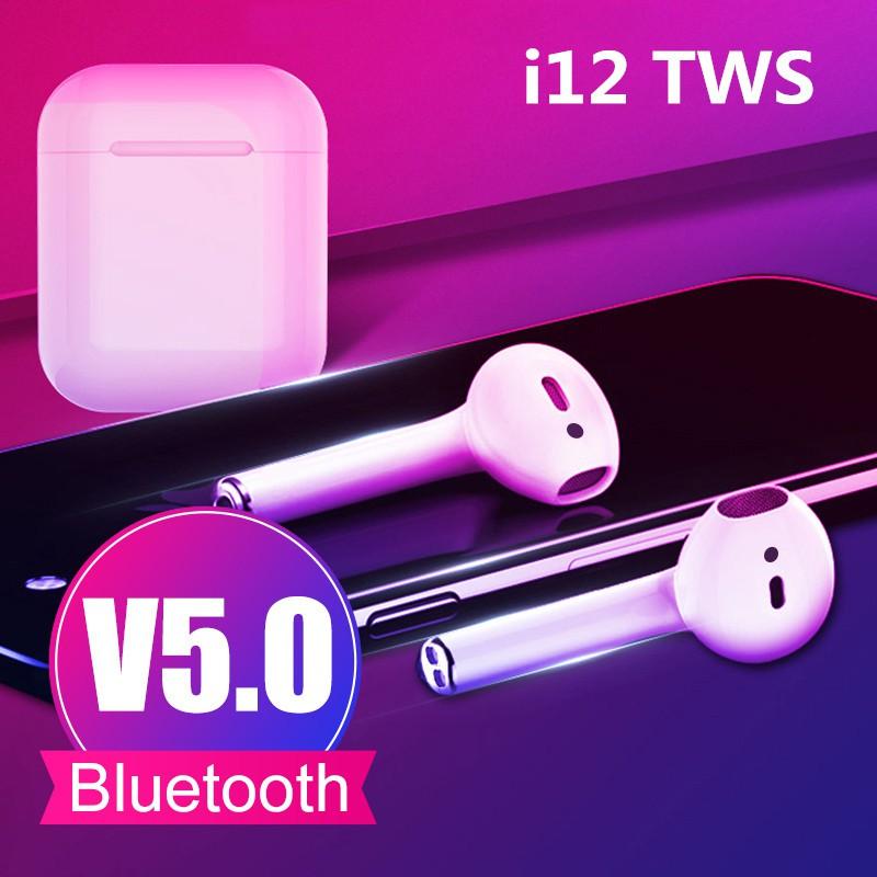 Tai nghe i12 TWS Bluetooth kết nối không dây tương thích với