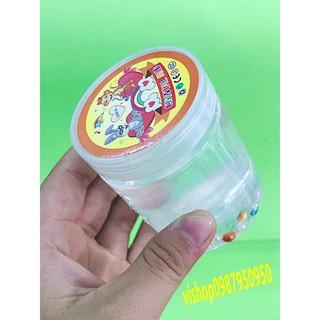 đồ chơi slime -chất nhờn lọ có viên bi ngọc trai – slime mềm mã AWP39 G( full box )