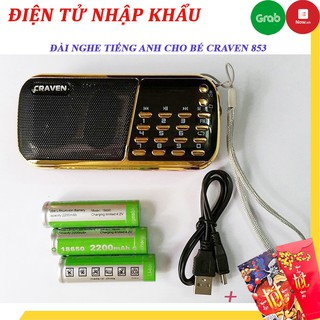 Máy nghe nhac, Loa mini mp3 CR -836s 853 nghe thẻ nhớ usb, Đài FM, đọc kinh phật pháp - BH 6 tháng thumbnail