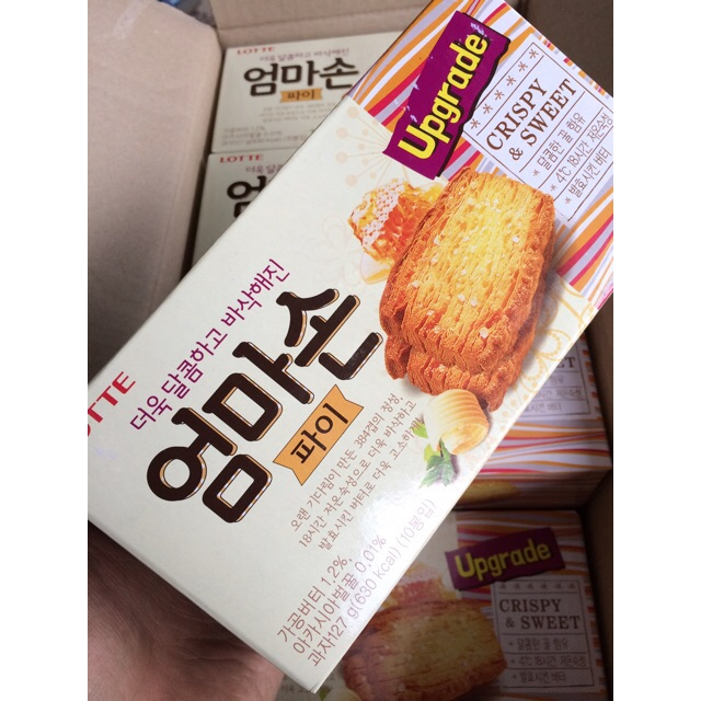 |Bánh Hộp Hàn| Lotte Upgrade Crispy & Sweet 127g(10 cái) - 10023993 , 703224574 , 322_703224574 , 47000 , Banh-Hop-Han-Lotte-Upgrade-Crispy-Sweet-127g10-cai-322_703224574 , shopee.vn , |Bánh Hộp Hàn| Lotte Upgrade Crispy & Sweet 127g(10 cái)