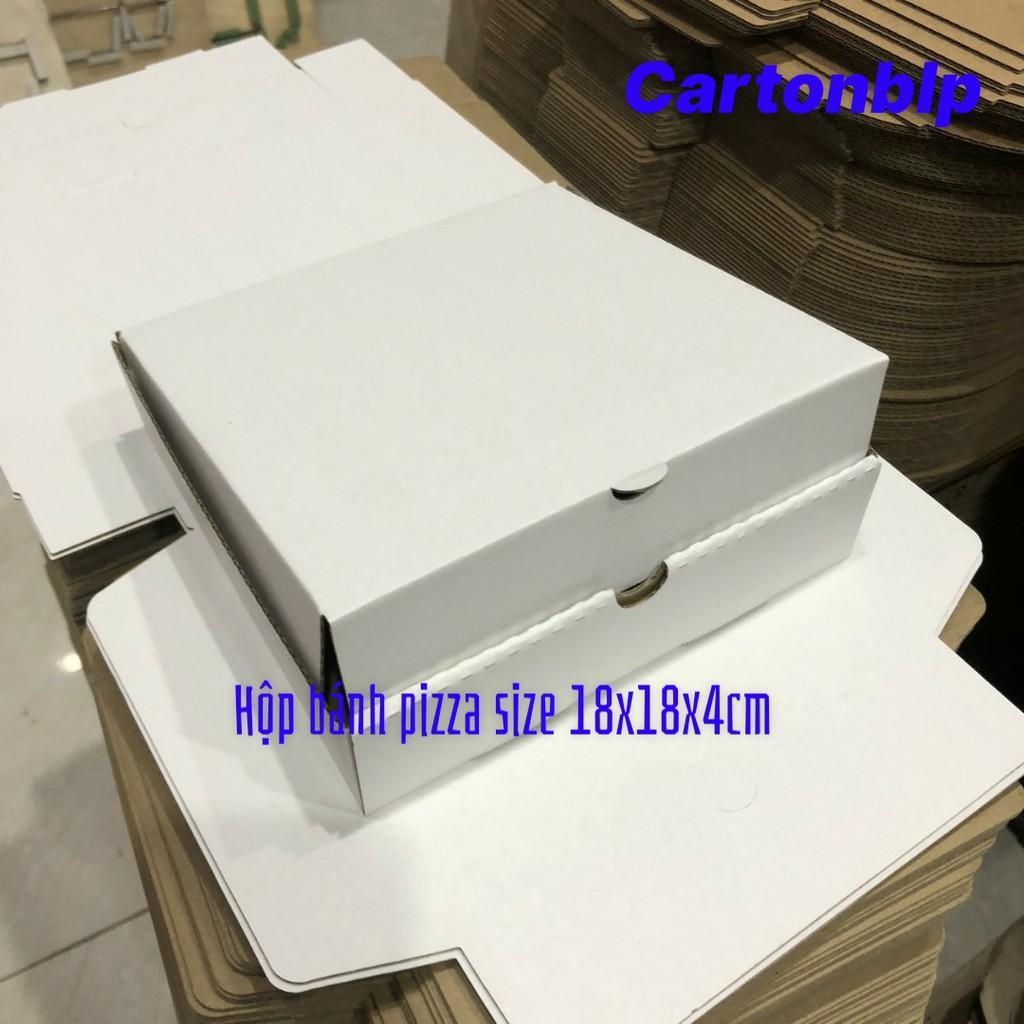 Hộp carton đựng bánh pizza size 18x18x4cm