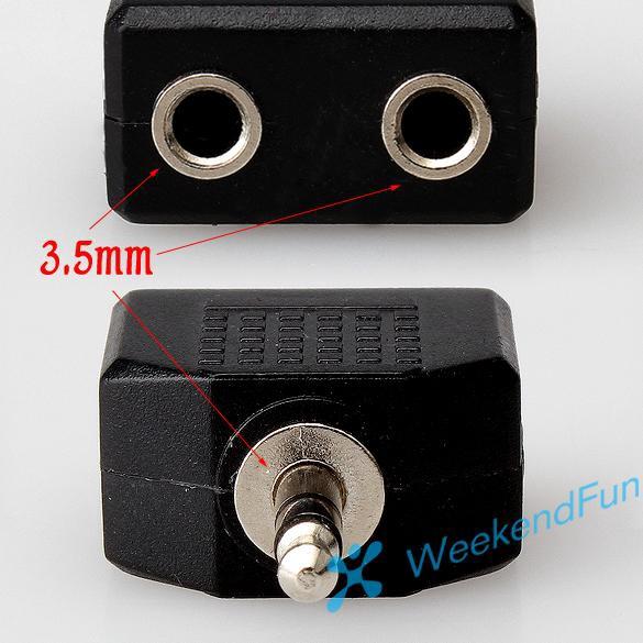 Dây Cáp Chia 2 Cổng Âm Thanh 3.5mm