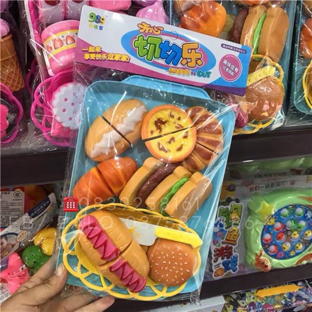 Bố Cắt Bánh có Khay + Rổ 🥧🧁🥪🌭🥐