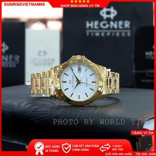 Đồng hồ nam dây thép Hegner HW-223 , Full box, Chống xước, Chống nước, full box, Bảo hành 3 năm thumbnail