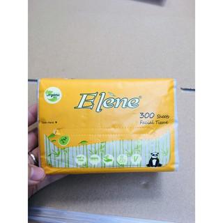 Thùng 30 gói giấy ăn bột tre tự nhiên Elene siêu dai gói 300 tờ
