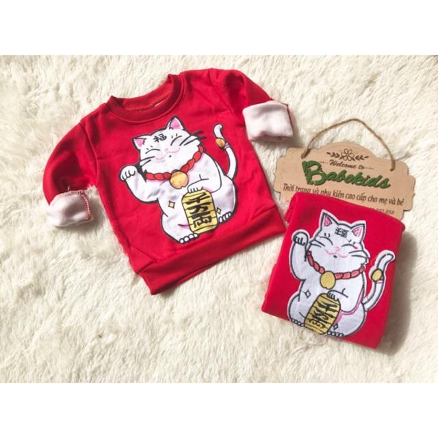 Áo mèo thần tài bé trai bé gái siêu hot đón Tết - 3092692 , 842960100 , 322_842960100 , 100000 , Ao-meo-than-tai-be-trai-be-gai-sieu-hot-don-Tet-322_842960100 , shopee.vn , Áo mèo thần tài bé trai bé gái siêu hot đón Tết