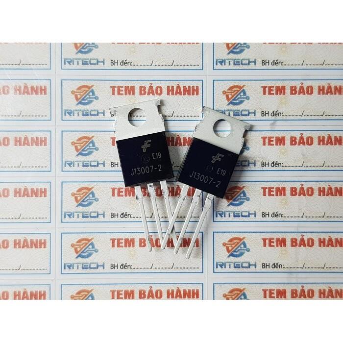 [Combo 10 chiếc] J13007-2, FJP13007H2, J13007 Transistor NPN 8A/400V TO-220