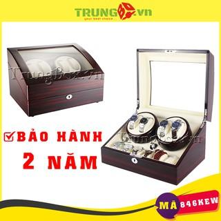 Hộp Xoay Đồng Hồ 4 Cơ 6 Tĩnh Vỏ Gỗ Sơn Mài Cao Cấp (Đèn LED) - Mã 846KEW thumbnail