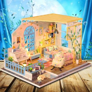 Kèm Mica – Mô hình nhà gỗ búp bê Dollhouse DIY – S001 Quietly Elegant
