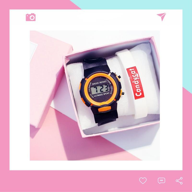 Đồng hồ thời trang trẻ em điện tử LCD Shock Resist DH74 giá siêu yêu