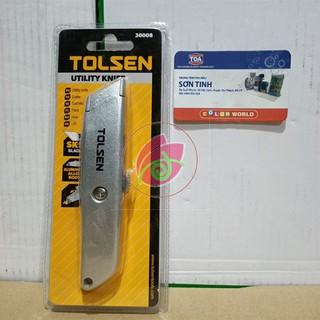 DAO RỌC GiẤY LƯỠI LIỀN CÁN NHÔM TOLSEN 30008 - Hàng xuất khẩu Châu Âu
