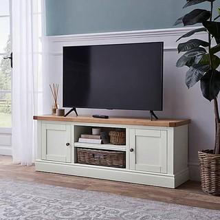 [Nhà của Ang] Kệ tivi gỗ sồi cổ điển Châu Âu - Kệ phòng khách TV stand màu trắng mờ 1m34 thumbnail