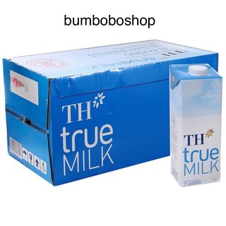 thùng 12 hộp sữa tươi TH TRUE MILK ít đường 1 lít