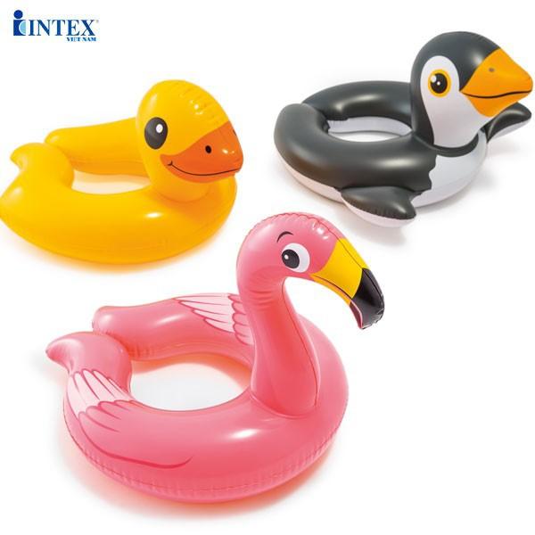 sỉ combo 3 cái phao bơi intex hình các con thú ngộ nghĩnh: chim cánh cụt ,vịt,thiên nga,kt 62x57x24x22