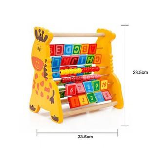 Đồ chơi gỗ Bộ học chữ và số đa năng hình con hươu